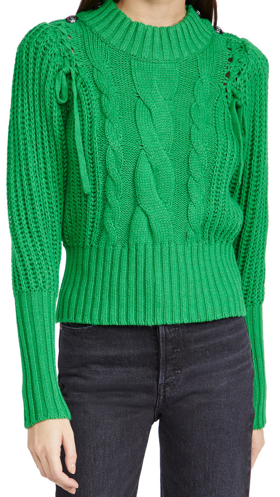 MUNTHE Turner Pullover Sweater in green