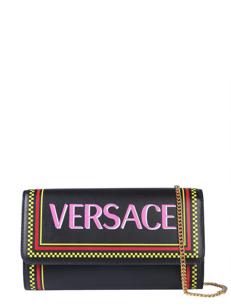 Versace Vintage 90s Logo Bag in nero