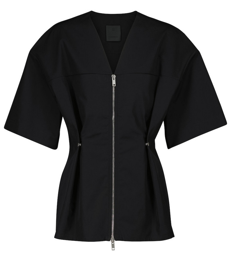 Givenchy Zipped v-neck top in black