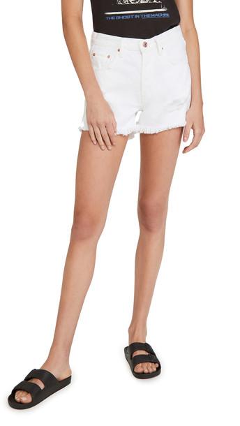 Edwin Cai Shorts in white