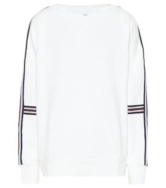 The Upside Captain Crew cotton sweater in white