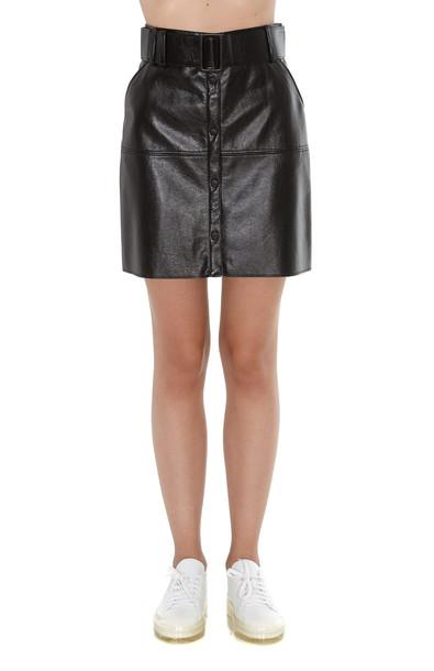 Msgm Leather Effect Mini Skirt in black