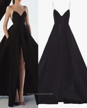 dress,black,gown,puffy,sexy