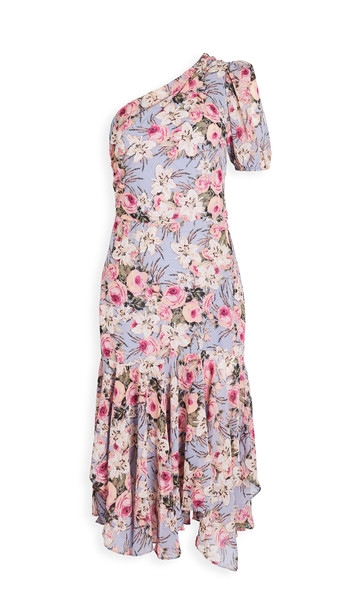 ASTR the Label Adriana Dress in blue / peach