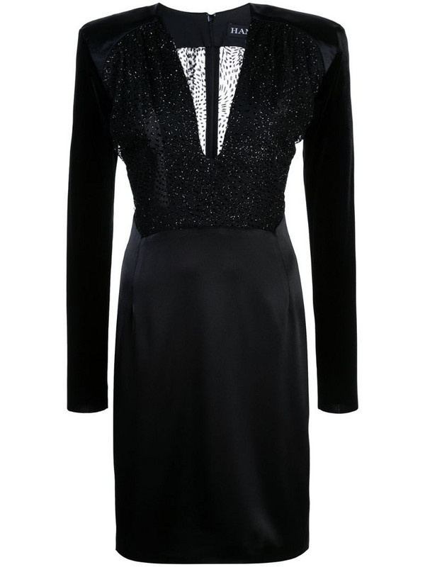 Haney Stam fitted dress in black