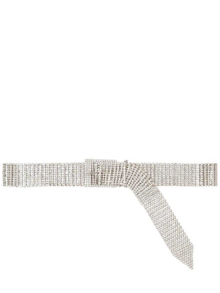 B-LOW THE BELT 40mm Farah Crystal Belt in silver