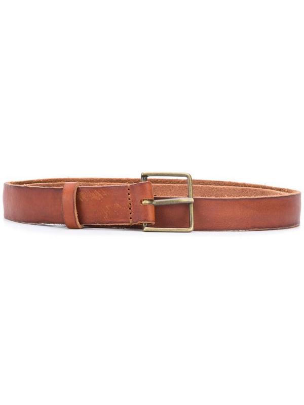 Forte Forte leather buckle fastening belt in brown