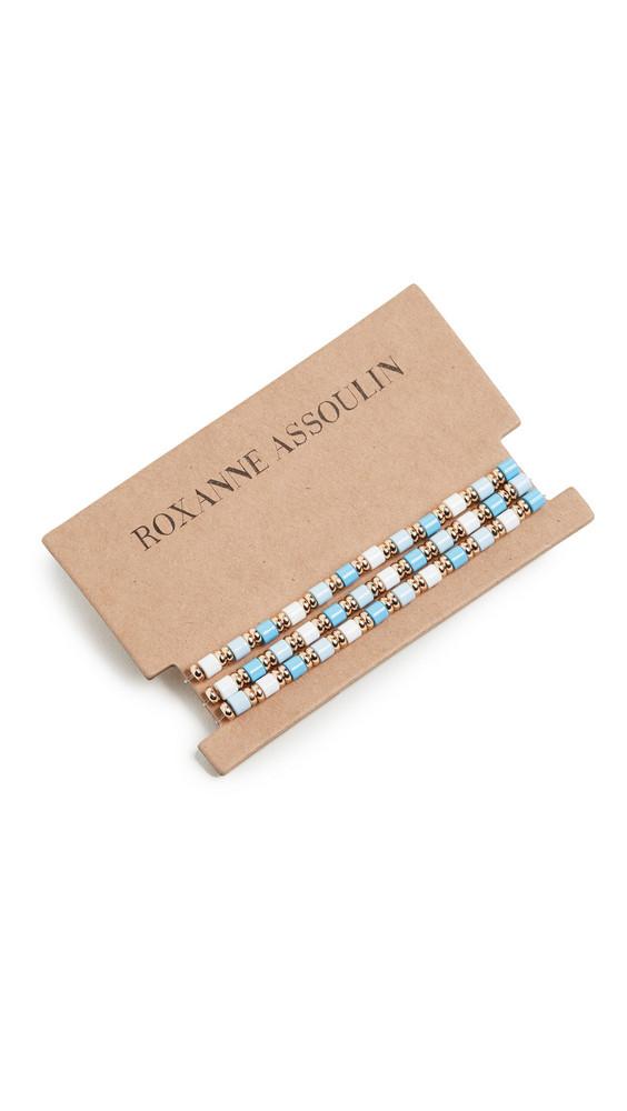 Roxanne Assoulin Little Ones Bracelet Set of 3 in blue / gold