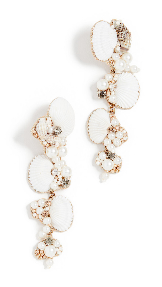 Deepa Gurnani Deepa by Deepa Gurnani Aliyah Earrings in ivory