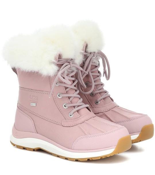 Ugg Adirondack II Fluff leather boots in pink