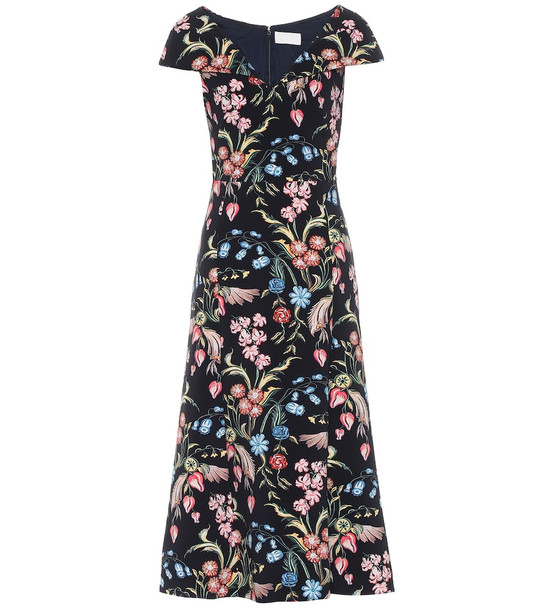 Peter Pilotto Floral cady midi dress in blue