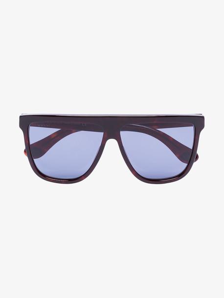 Gucci Eyewear blue tortoiseshell square frame sunglasses