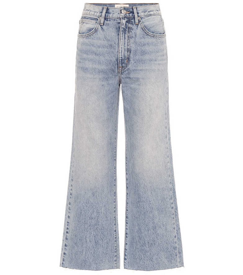 Slvrlake Grace high-rise wide-leg ankle jeans in blue