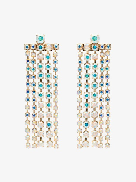 Beaufille Yellow Gold and Crystal Gem Drop Earrings