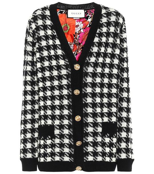 Gucci Cashmere and silk cardigan in black