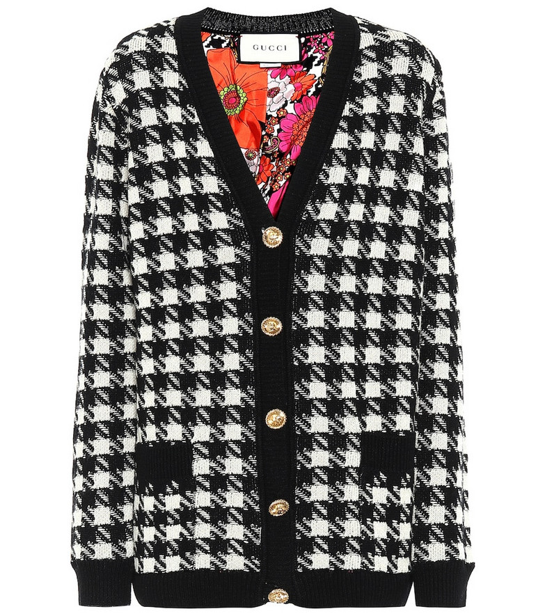 Gucci Cashmere and silk cardigan in black