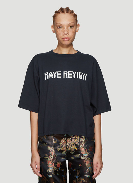 Rave Review Niki Cropped T-Shirt in Black size M