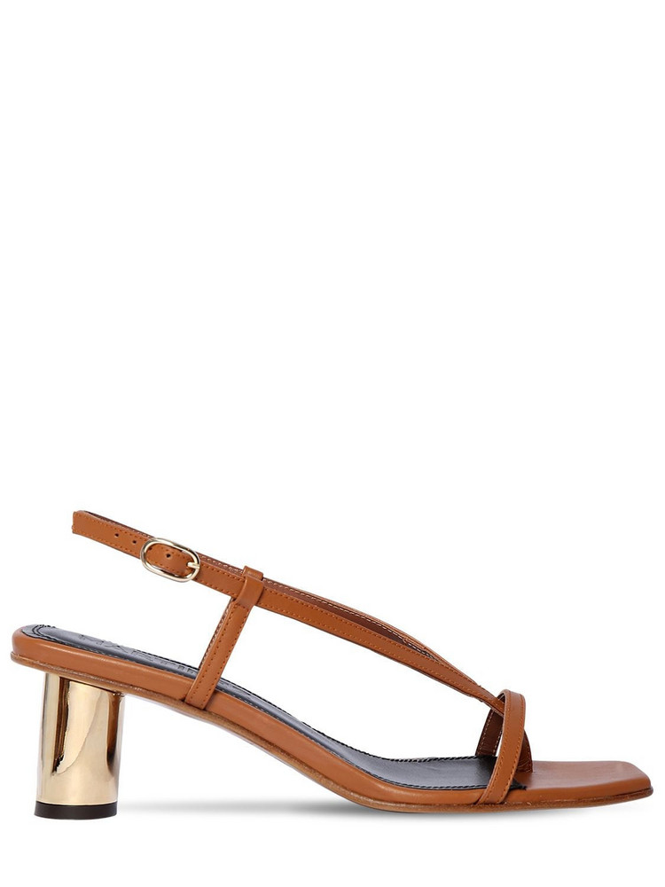SOULIERS MARTINEZ 55mm Leather Thong Sandals in tan