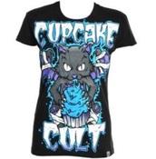 t-shirt,cupcake cult,emo,black,blue,cute,scene,zombie,cats