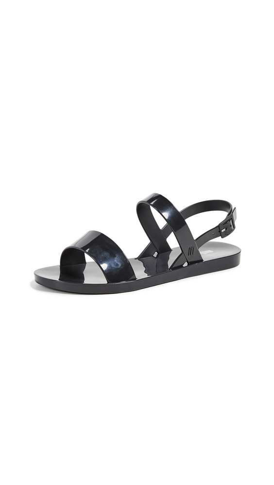 Melissa Lip Ad Sandals in black