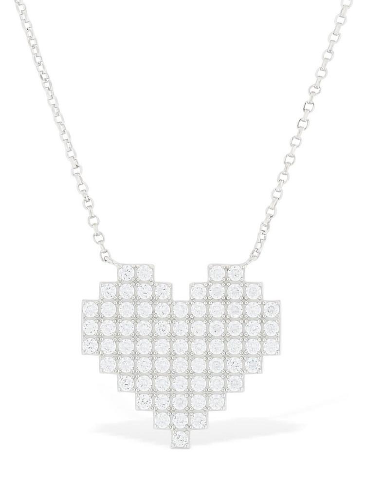 APM MONACO Silver Pixel Heart Necklace