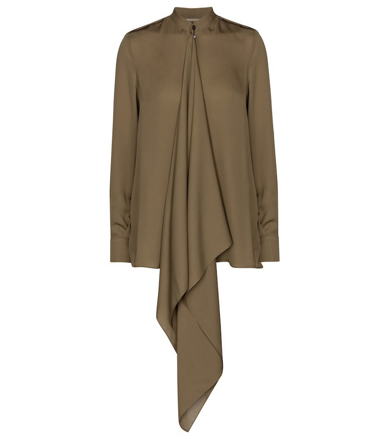 Roland Mouret Hallow silk blouse in green