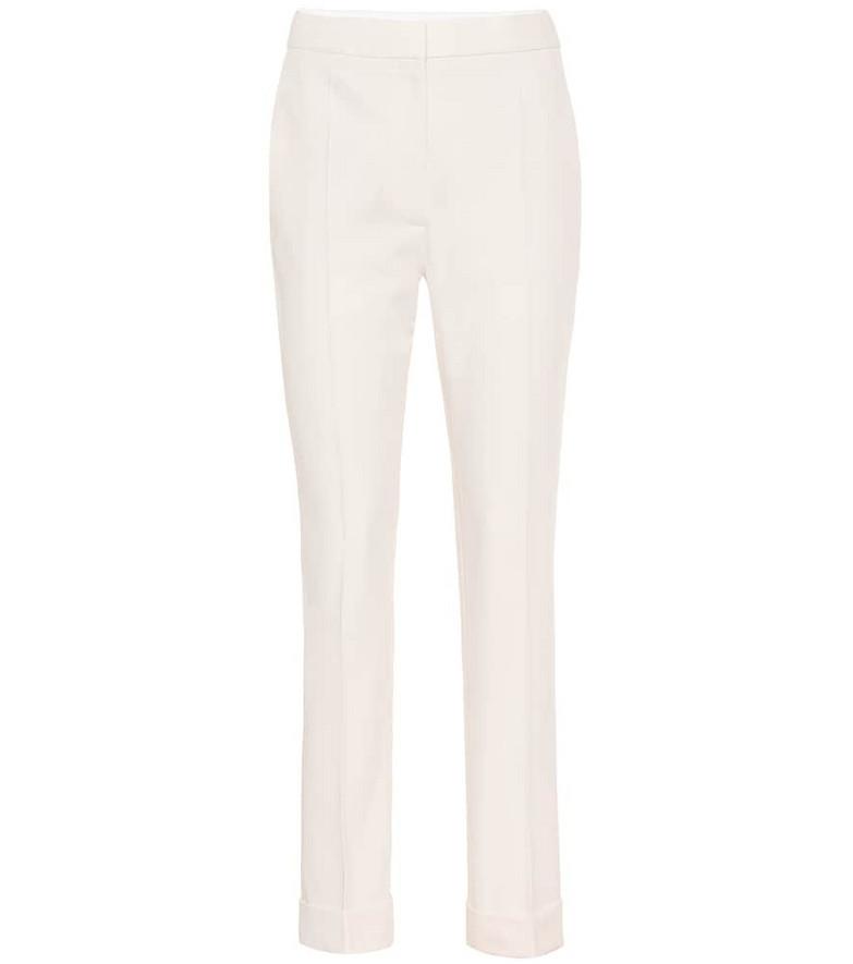 Stella McCartney Wool-crêpe slim pants in white