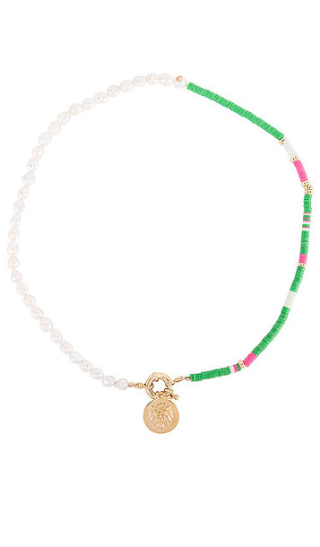 joolz by Martha Calvo Lioness Necklace in Green