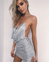 dress,sequins,mini,low back,party dress