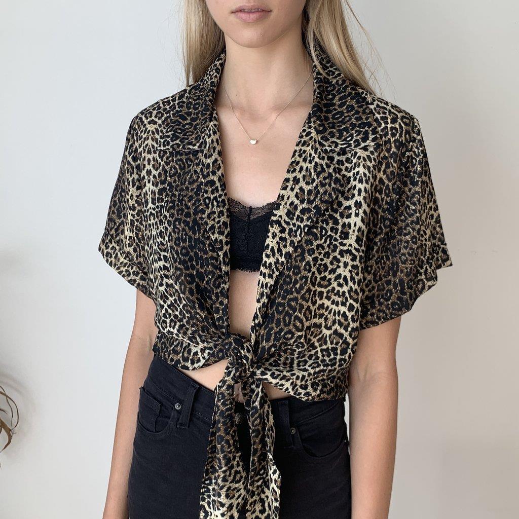 Cheetah Tie Top