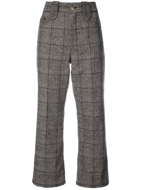 Marc Jacobs Creased cropped plaid pants in brown