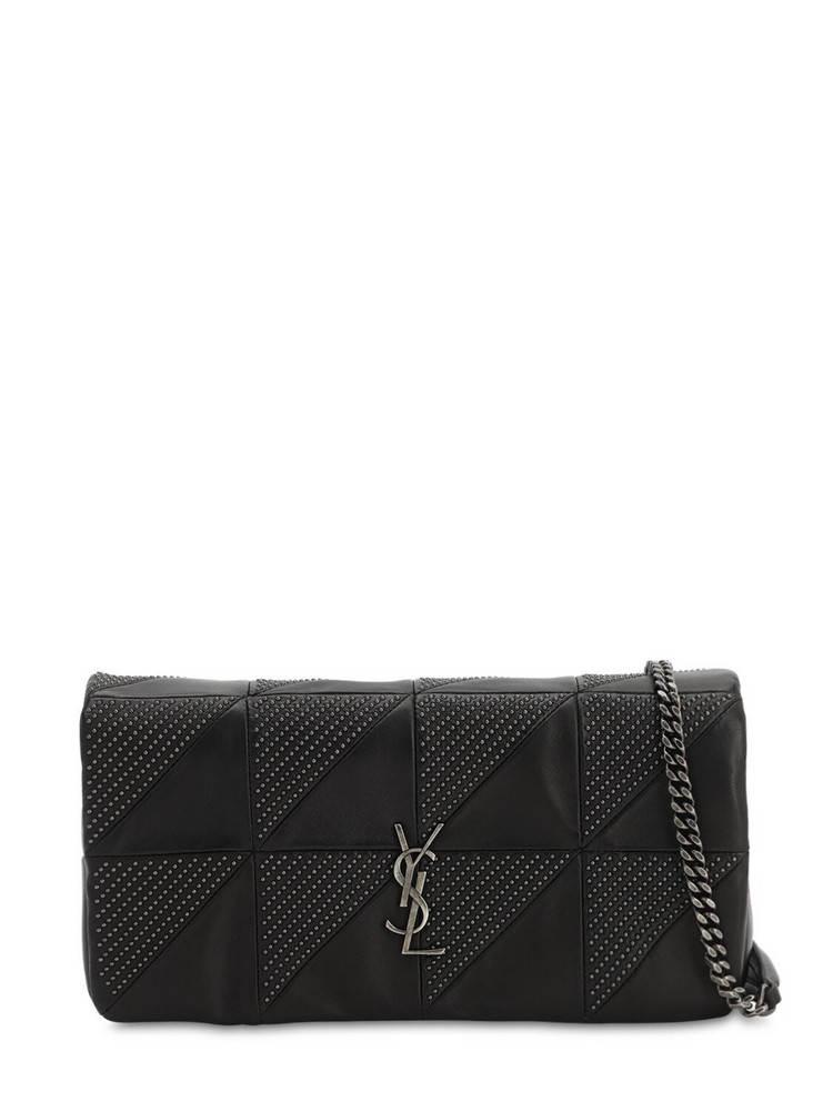SAINT LAURENT Jamie Baguette Micro Studded Leather Bag in black