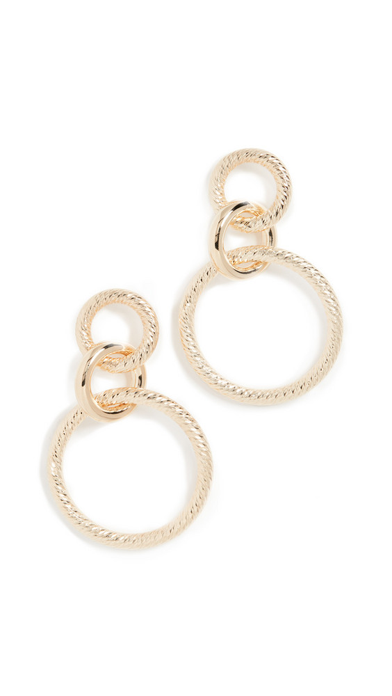 Jennifer Zeuner Jewelry Wes Earrings in gold