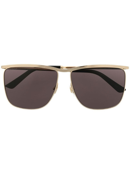 Gucci Eyewear square-frame sunglasses in gold
