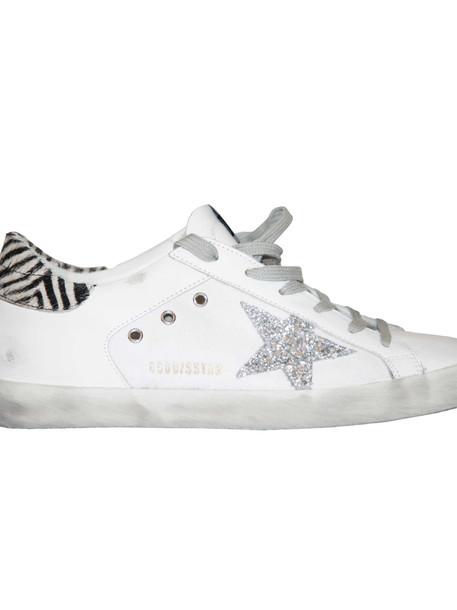 Golden Goose Deluxe Brand Superstar Sneakers in silver / white