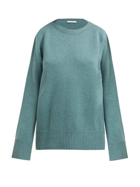 The Row - Sibel Wool And Cashmere Blend Sweater - Womens - Mid Green