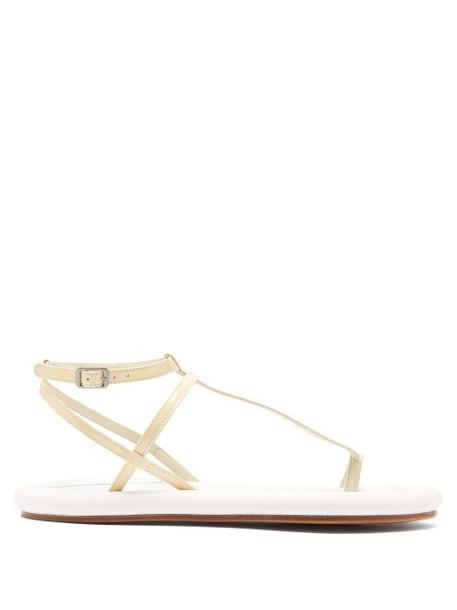 Mm6 Maison Margiela - Padded Sole Leather Sandals - Womens - White