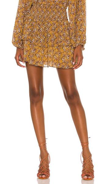 MINKPINK Tarsus Mini Skirt in Burnt Orange in multi