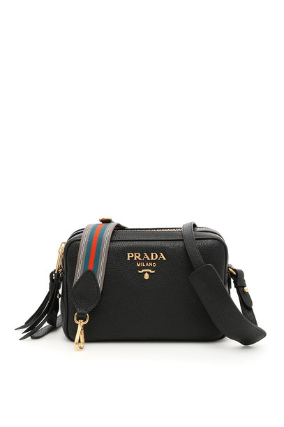 Prada Calfskin Crossbody Bag in black