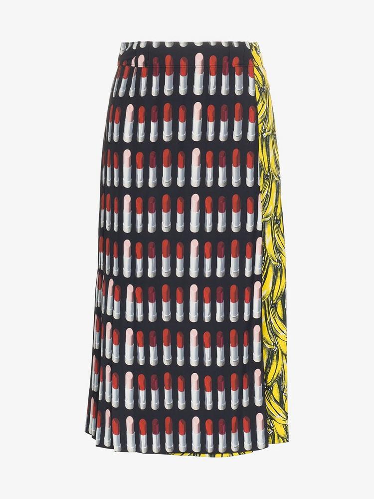 89226c5329 Prada Fluffy Ruffled Hem Midi Skirt - Farfetch