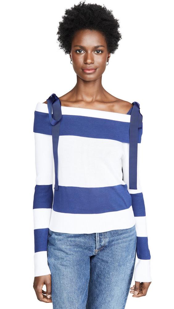 Adeam Off Shoulder Sweater in navy