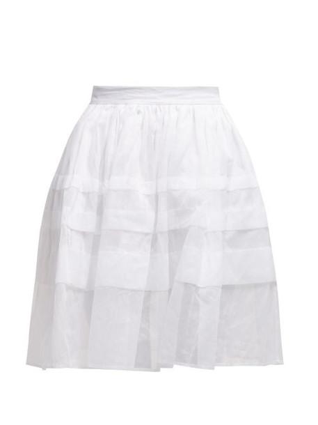 skirt pleated white cotton