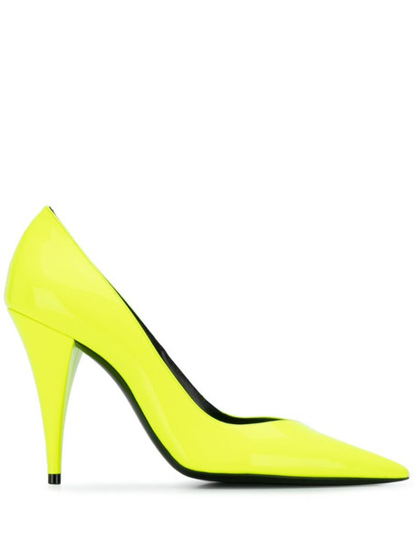 Saint Laurent Kiki pumps in yellow