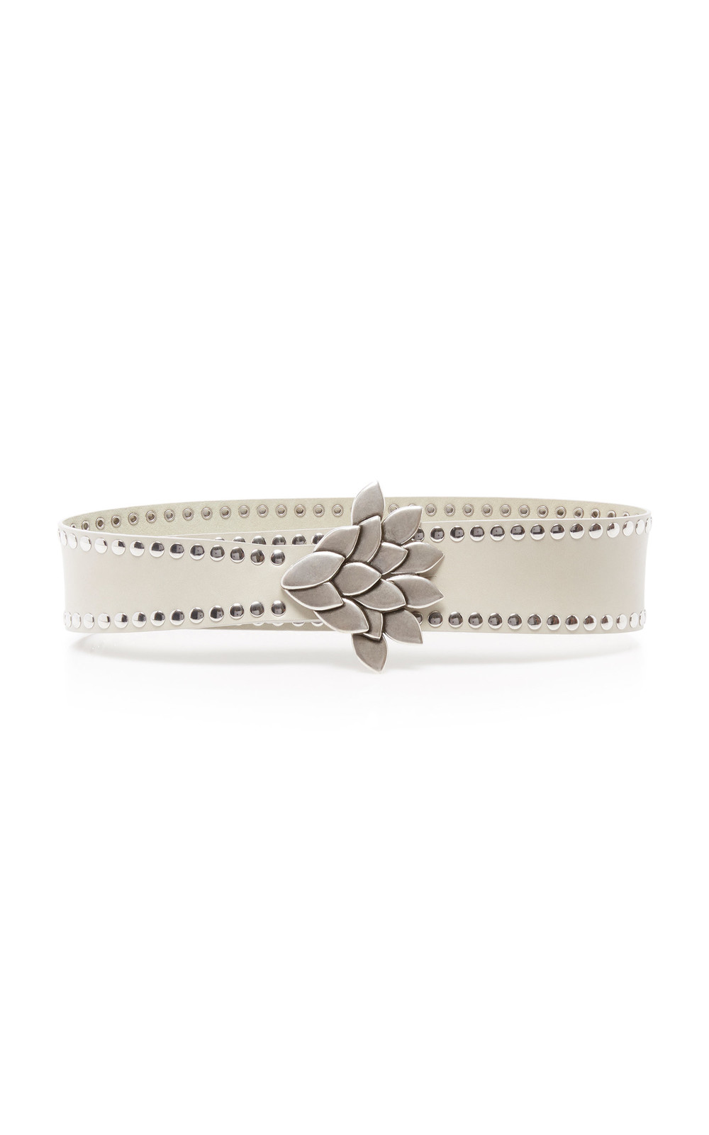Isabel Marant Lowi Studded Leather Belt Size: M in white