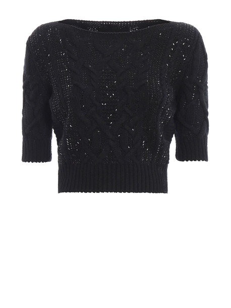 Ermanno Scervino Round Neck Sweater in black
