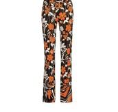 pants,floral,orange,prada,beautiful,print,printed pants,expensive wardrobe,summer,spring,flowers