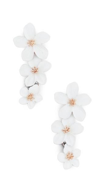 Shashi Botanique Earrings in white