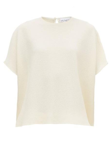 Raey - Square Wool Crepe Top - Womens - Ivory
