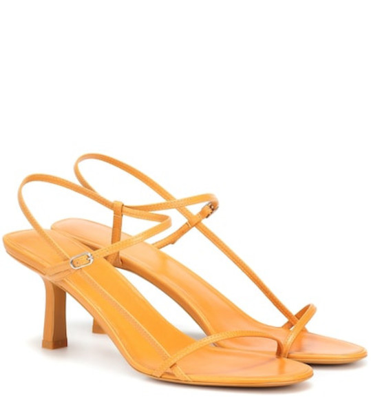 The Row Bare leather sandals in yellow
