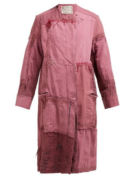 By Walid - Azza 19th Century Linen Coat - Womens - Pink